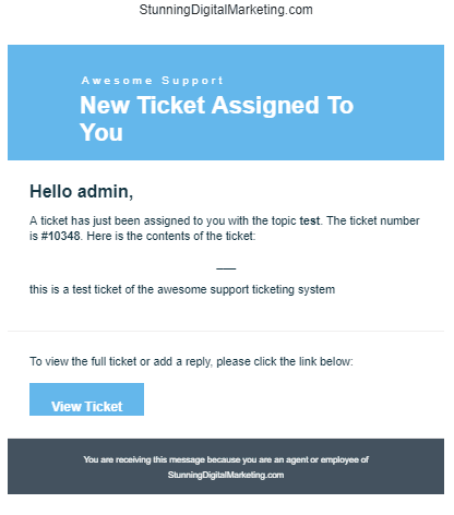ticket assigned to support tech How To Open A Ticket Using The Awesome Support Plugin